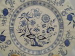 Click here to enlarge image and see more about item 16000: J & G Meakin Blue Nordic Dinner Plate(s)