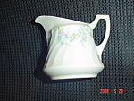Click here to enlarge image and see more about item 1652: Syracuse Tiny Blue Flowers Creamer - SY55