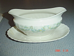 Click here to enlarge image and see more about item 1654: Syracuse Tiny Blue Flowers Gravy Boat SY55