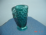 Click here to enlarge image and see more about item 1764: Indiana Glass Teal Fostoria Glasses American Whitehall