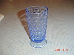 Click here to enlarge image and see more about item 1767: Whitehall Fostoria Indiana Glass Blue Iced Tea Glass(es)