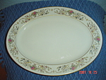 Click here to enlarge image and see more about item 8090: Lamberton Ivory Dorthea Oval Platter