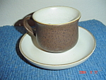 Denby Homestead Brown Cups and Saucers