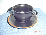 Dansk Black Sky Mesa Cups and Saucers - Portugal