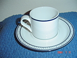 Click here to enlarge image and see more about item 2046: Dansk Bistro Lyngby Cups and Saucers
