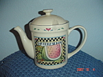 Click here to enlarge image and see more about item 8802: Susan Winget Watermelon Covered Tea Pot