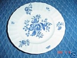 Click here to enlarge image and see more about item 2260: Royal Worcester Blue Sprays Salad Plates