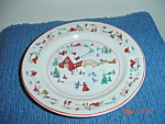 Click here to enlarge image and see more about item 2267: Farberware White Christmas Salad Plates