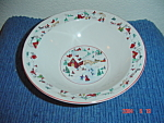 Click here to enlarge image and see more about item 2271: Farberware White Christmas Soup/Cereal Bowls