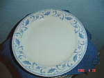 Click here to enlarge image and see more about item 2276: Farberware Blue Scroll Salad Plates