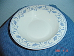Click here to enlarge image and see more about item 2277: Farberware Blue Scroll Rimmed Soup Bowls