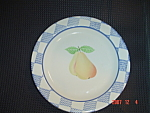Click here to enlarge image and see more about item 2621: Pfaltzgraff Hopscotch Pear Salad Plates