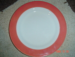 Click here to enlarge image and see more about item 2691: Pyrex Flamingo Milk Glass Lunch Plates