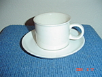 Midwinter Wedgwood Stonehenge White Cups and Saucers
