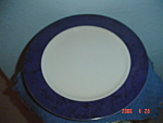 Click here to enlarge image and see more about item 2789: Interiors Carpet Blue Round Platter
