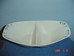 Click here to enlarge image and see more about item 285: Iroquois Pyramids Divided Serving Bowl