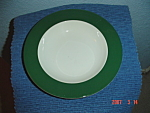 Click here to enlarge image and see more about item 2896: Pagnossin Green/White Soup Bowls