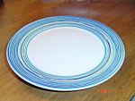 Click here to enlarge image and see more about item 2898: Pagnossin Blue Stripe and White Salad Plates