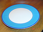 Click here to enlarge image and see more about item 2899: Pagnossin Bright Blue/white/Navy Salad Plates