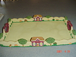 Click here to enlarge image and see more about item 2900: Heart and Houses Serving Tray - Really Neat