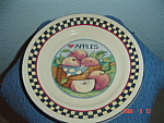 Click here to enlarge image and see more about item 9028: Susan Winget Apples Dinner Plate