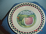 Click here to enlarge image and see more about item 9029: Susan Winget Watermelon Dinner Plates