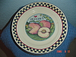 Click here to enlarge image and see more about item 9032: Susan Winget Peaches Dinner Plate