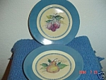 Click here to enlarge image and see more about item 2906: Susan Winget Plum & Pear Salad Plates