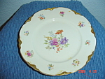 Click here to enlarge image and see more about item 297: Warwick Gold Scalloped Floral Pattern Dinner Plates