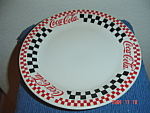 Click here to enlarge image and see more about item 3025: Gibson Coca Cola Dinner Plates - Black Checks