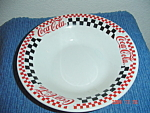 Click here to enlarge image and see more about item 3026: Gibson Coca Cola Soup Bowl - Black Checks