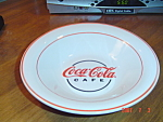 Click here to enlarge image and see more about item 3027: Gibson Coca Cola Cafe Rimmed Soup Bowls