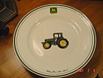 Click here to enlarge image and see more about item 3031: John Deere Dinner Plate - Nothing Runs Like a Deere