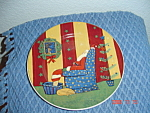 Sakura Warren Kimble Holiday Cheer Santa Salad Plates