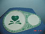 Click here to enlarge image and see more about item 3091: Green Sponge Kidney Shaped Snack Trays