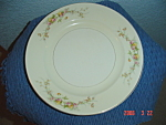 Click here to enlarge image and see more about item 3093: Harker Gold Trimmed Sweetheart Rose Dinner Plates