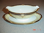 Noritake M Valiere Gravy Boat with Attached Tray