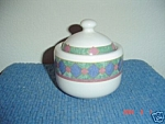 Pfaltzgraff Amalfi Mediterranean Covered Sugar Bowl