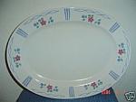 Pfaltzgraff Bonnie Brae Oval Platter - Very Nice