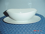 Noritake Savoy Gravy Boat w/Attached Tray