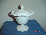 Click here to enlarge image and see more about item 355: Indiana Colony Harvest Colony GrapesVines Footed Candy Dish