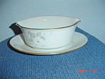 Noritake Grace Gravy Boat w/Attached Tray