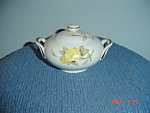 Click here to enlarge image and see more about item 3869: Sango Cotillion Covered Sugar Bowl