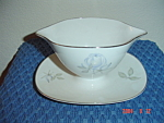 Click here to enlarge image and see more about item 38: Rosenthal Blue Roses Gravy Boat w/Tray