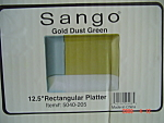 Click here to enlarge image and see more about item 3924: NEW Sango Gold Dust Green Rectangle Platters