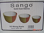Click here to enlarge image and see more about item 3926: NEW Sango Gold Dust Sienna Mixing Bowl Middle Bowl Only