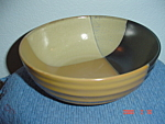 Click here to enlarge image and see more about item 3927: Sango Gold Dust Black Soup/Cereal Bowl