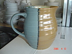 Click here to enlarge image and see more about item 8979: NEW Sango Gold Dust Green 2 Quart Pitcher