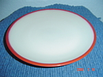 Click here to enlarge image and see more about item 8974: Sango Nova Retro Red Salad Plates