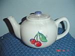 Click here to enlarge image and see more about item 4402: Corelle Fruit Basket/Fruit Too Covered Tea Pot